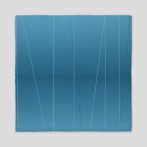 Blue Line Print Queen Duvet