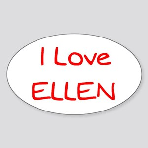 ellen Sticker (Oval)