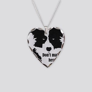 Border Collie Art Necklace