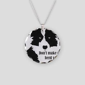 Border Collie Art Necklace