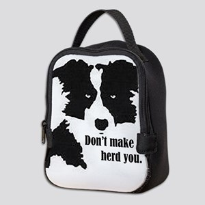 Border Collie Art Neoprene Lunch Bag