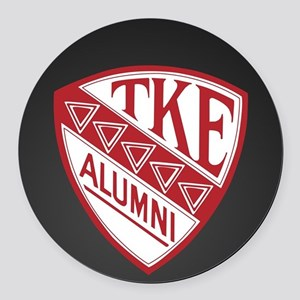 Tau Kappa Epsilon Shield Round Car Magnet