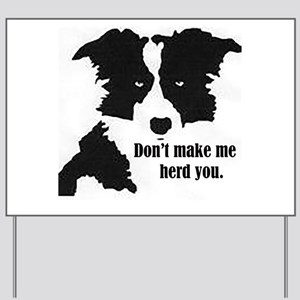 Border Collie Art Yard Sign