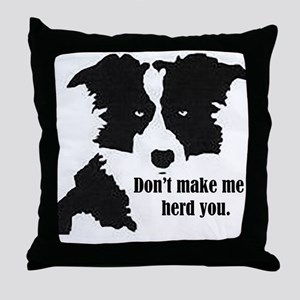 Border Collie Art Throw Pillow