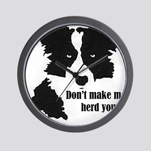 Border Collie Art Wall Clock
