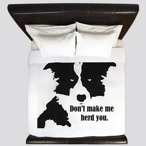 Border Collie Art King Duvet