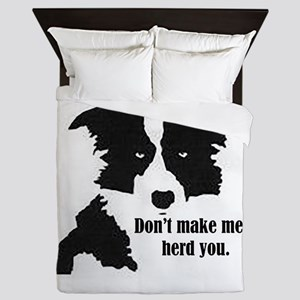 Border Collie Art Queen Duvet