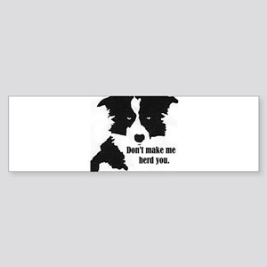 Border Collie Art Bumper Sticker