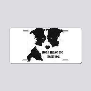 Border Collie Art Aluminum License Plate