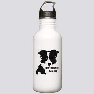 Border Collie Art Water Bottle