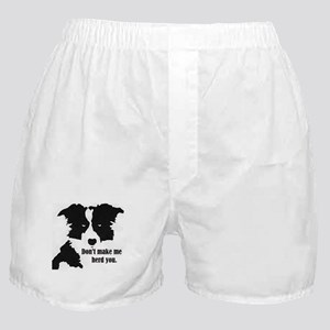 Border Collie Art Boxer Shorts