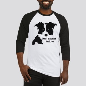 Border Collie Art Baseball Jersey