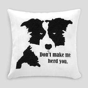 Border Collie Art Everyday Pillow