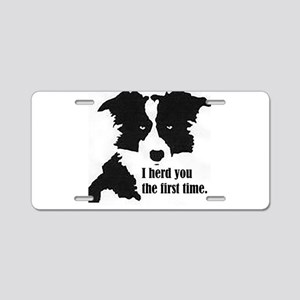 Border Collie Herd You Aluminum License Plate