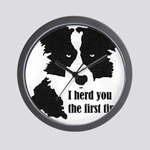 Border Collie Herd You Wall Clock