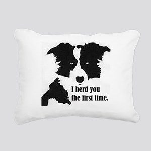 Border Collie Herd You Rectangular Canvas Pillow