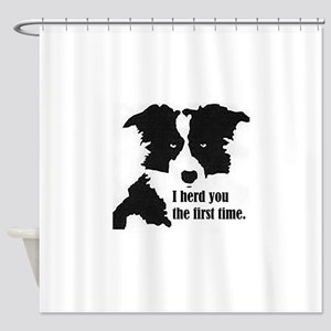 Border Collie Herd You Shower Curtain