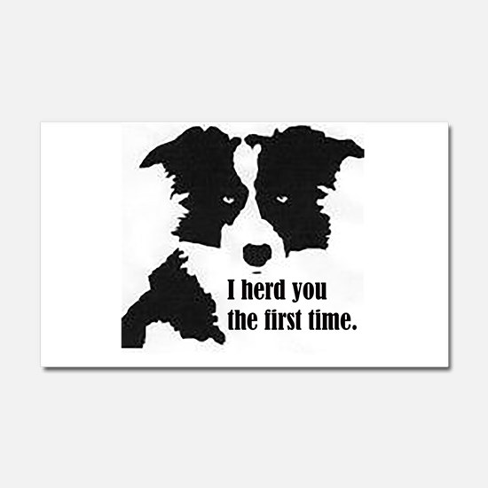 Border Collie Herd You Car Magnet 20 x 12