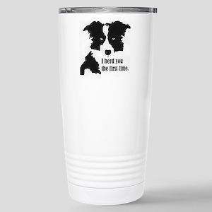 Border Collie Herd You Travel Mug
