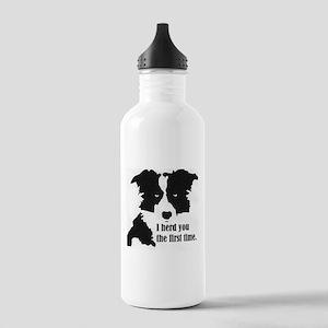 Border Collie Herd You Water Bottle