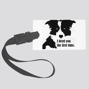 Border Collie Herd You Luggage Tag