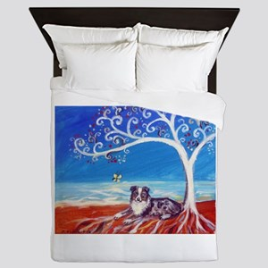 Australian Shepherd Blue Merle Queen Duvet