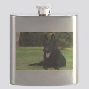 German Shepherd Flask