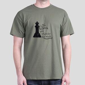Chess Queen Dark T-Shirt