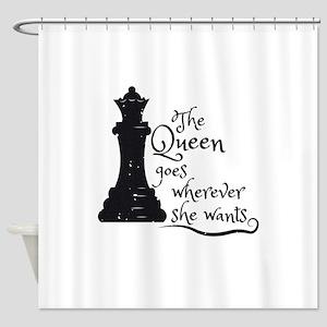 Chess Queen Shower Curtain