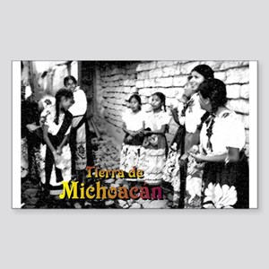 Tierra de Michoacán (B/W) Rectangle Sticker