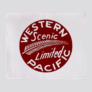 Western Pacific Limited Railroad Throw Blanket