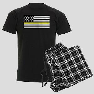 U.S. Flag: Black Flag & The Thin Yellow Line Pajam