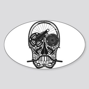 Bike Parts Skull Sticker