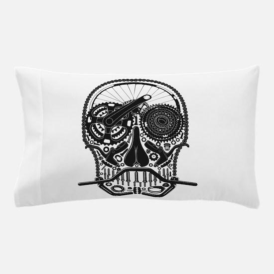 Bike Parts Skull Pillow Case