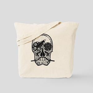 Bike Parts Skull Tote Bag