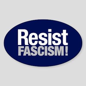 Resist Fascism Sticker (oval)
