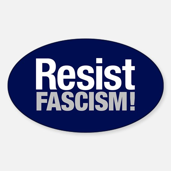 Resist Fascism Sticker (oval)
