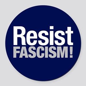 Resist Fascism Round Car Magnet