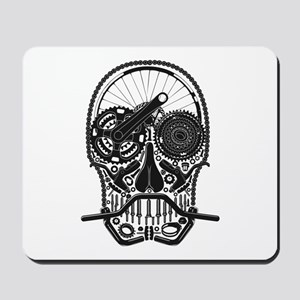 Bike Parts Skull Mousepad