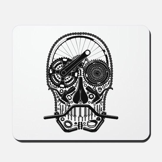 Bike Parts Skull Mousepad