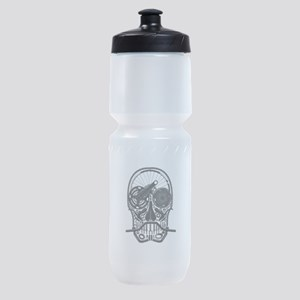 Bike Parts Skull Sports Bottle