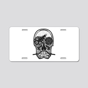 Bike Parts Skull Aluminum License Plate