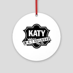 Katy Railroad Round Ornament