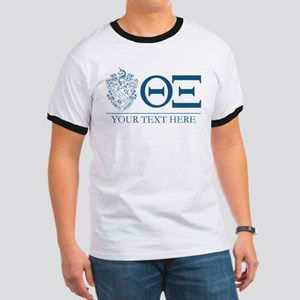 Theta Xi Letters Personalized Ringer T