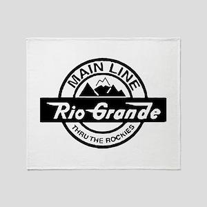 Rio Grande Rockies Railroad Throw Blanket