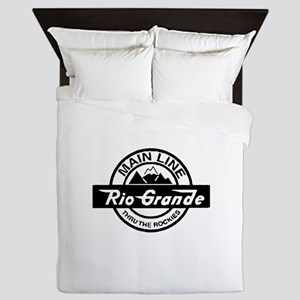 Rio Grande Rockies Railroad Queen Duvet