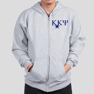 Kappa Kappa Psi Fraternity Letters in B Zip Hoodie