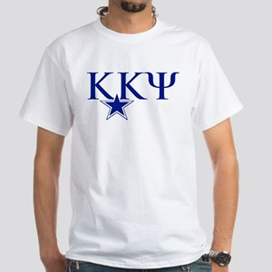Kappa Kappa Psi Fraternity Letters i White T-Shirt