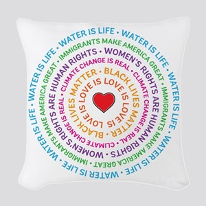 Worth Fighting For Woven Throw Pillow