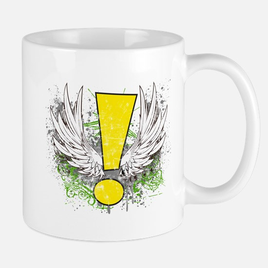 Winged Whee Exclamation Point Mugs